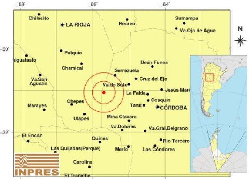 Tembló Córdoba en el límite con La Rioja