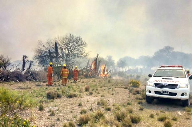 Incendios en Córdoba: el único activo es el de Guasapampa