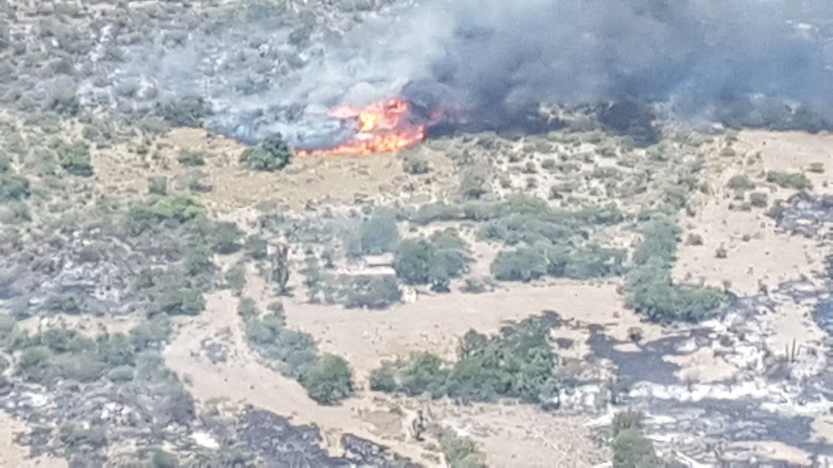 Impresionante incendio de casi 15 km en Córdoba