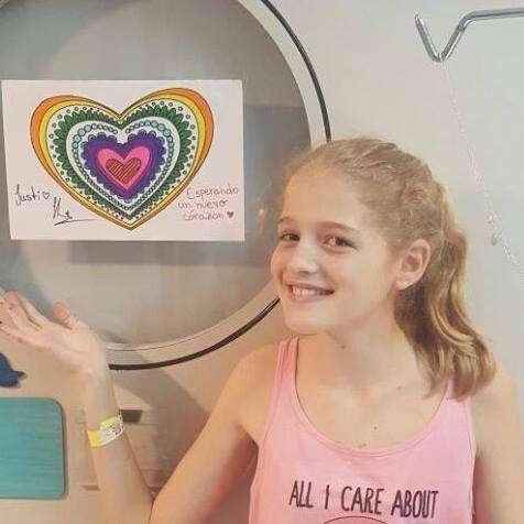 Justina espera urgente un corazón