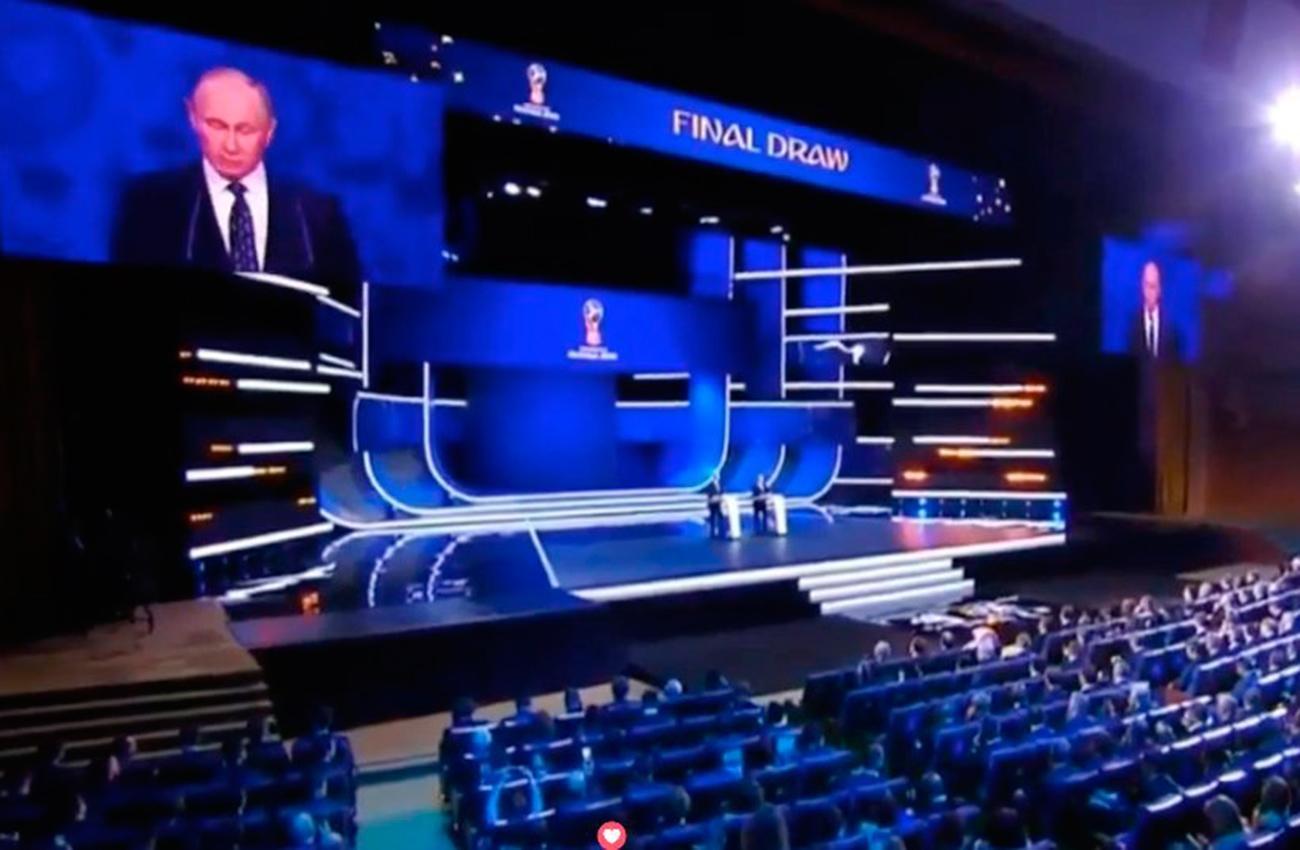 Puyol participa en los ensayos del sorteo del Mundial en el Kremlin