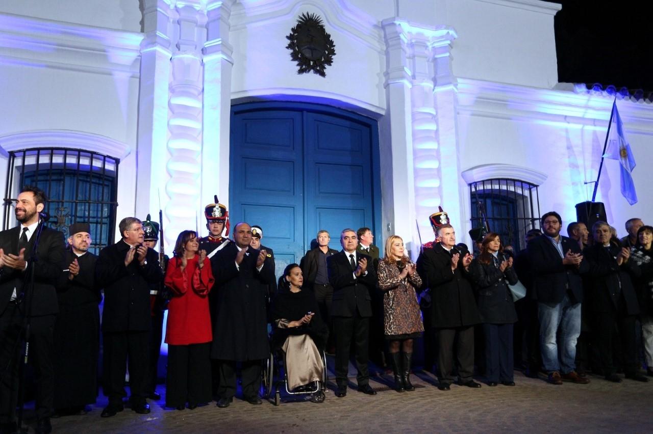 Michetti encabezó en Tucumán la vigilia de los festejos por el aniversario de la Declaración de la Independencia