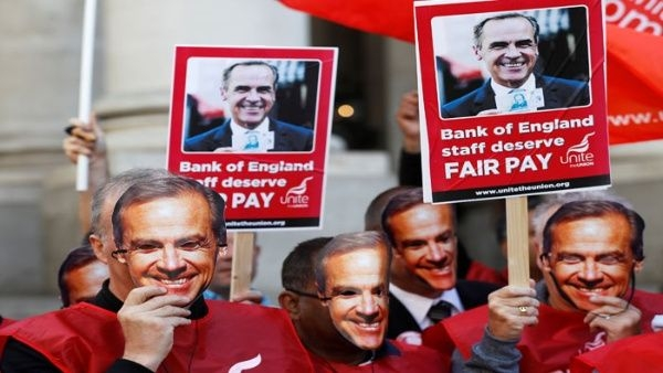 Banco de Inglaterra enfrenta primera huelga en 50 años