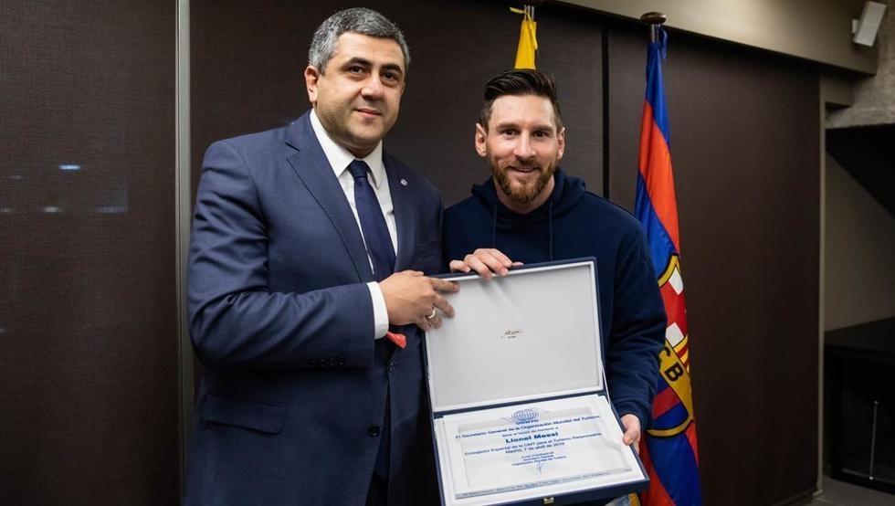 Messi fue nombrado embajador del turismo responsable