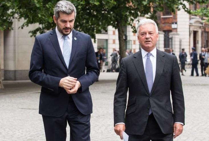 Marcos Peña inició su visita al Reino Unido - El Diario de Carlos Paz