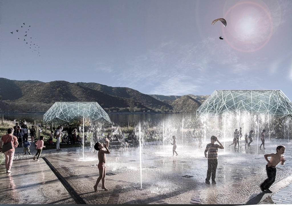 Un parque flotante en las «islas» del lago San Roque - El Diario de Carlos Paz
