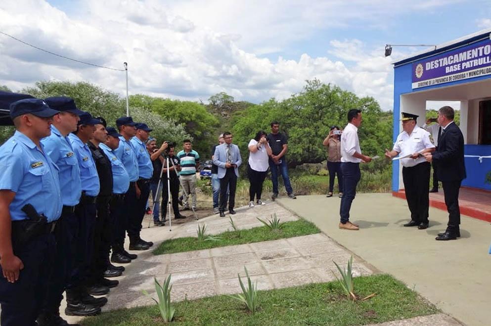 San Carlos Minas tiene un nuevo destacamento policial - El Diario de Carlos Paz