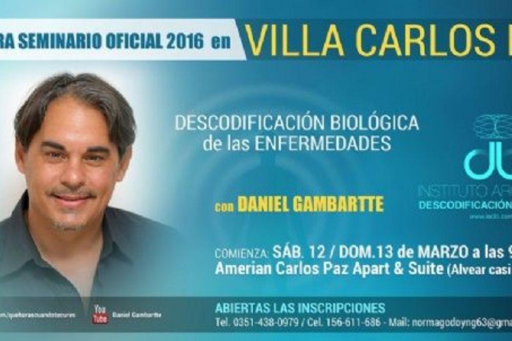 Un seminario para desprogramar una enfermedad en Carlos Paz