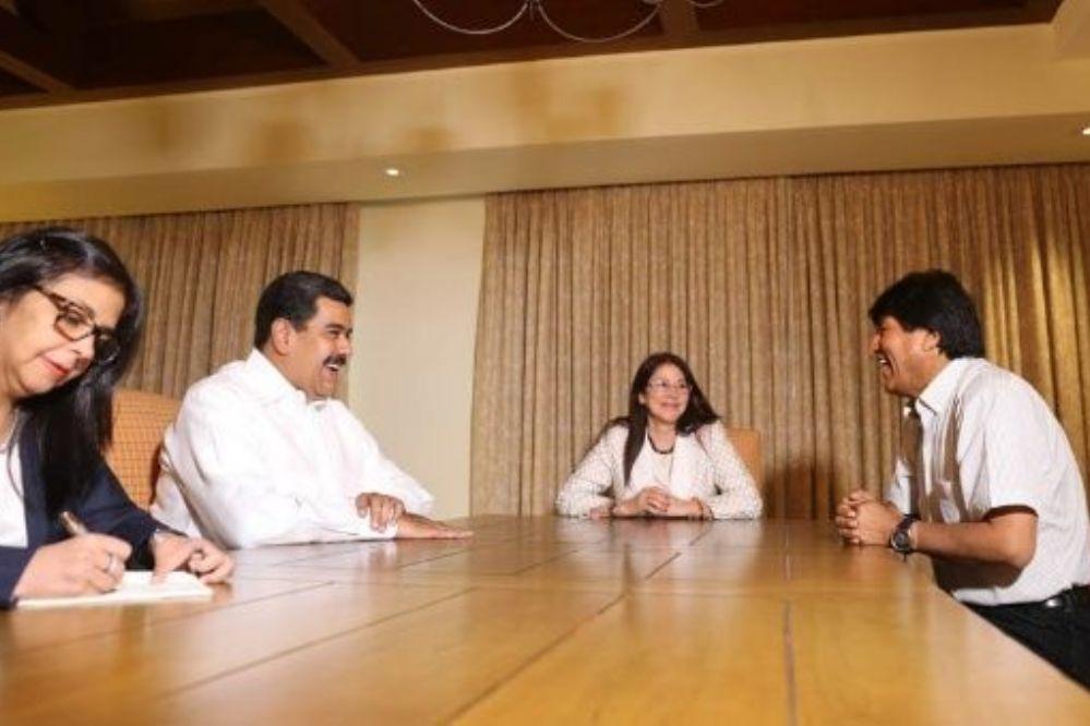 Evo Morales y Nicolás Maduro se reunieron en Nicaragua