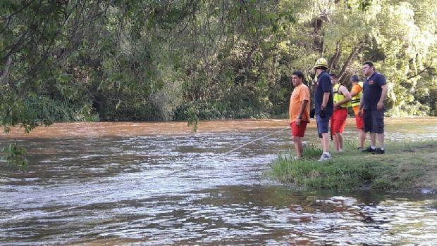 Una creciente atrapó a un contingente en Anisacate