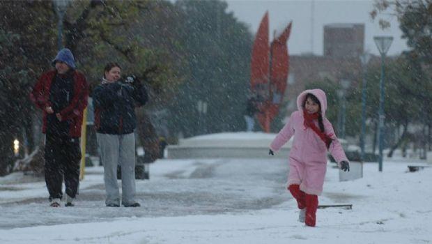La nieve llegó a la Provincia de Buenos Aires