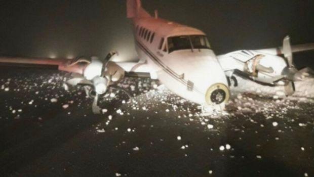 Se despistó un avión privado en Bariloche.
