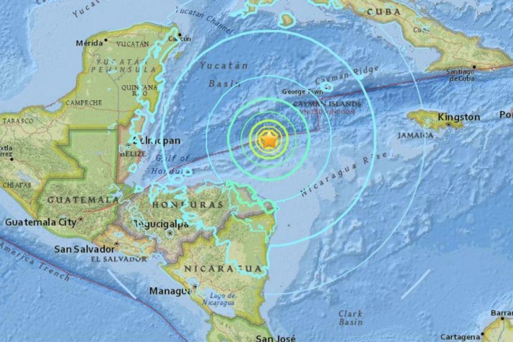 El Caribe se movió con un sismo de 7.6