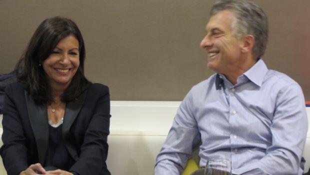 Resultado de imagen para Macri con Anne Hidalgo.