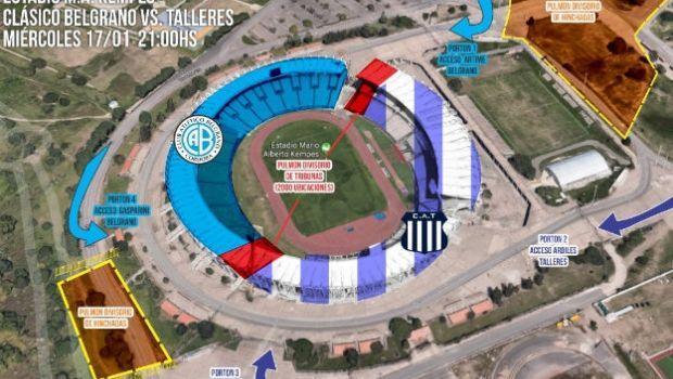 ¿Cómo será el operativo para el clásico Belgrano y Talleres?