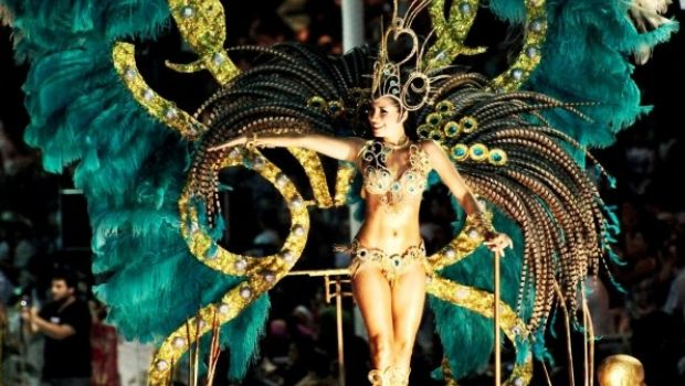 El Indio Lucio Rojas en los carnavales de Río Cuarto