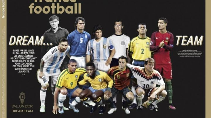 Maradona y Messi, en el Dream Team de la revista France Football